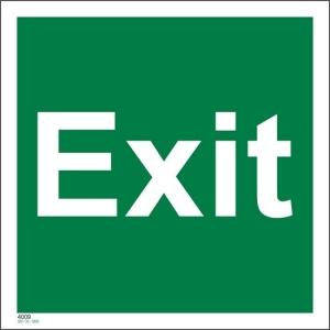 Exit Skilt etterlysende 20x20 cm