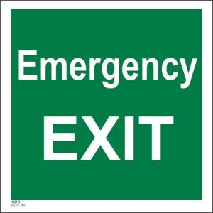 Emergency Exit Skilt