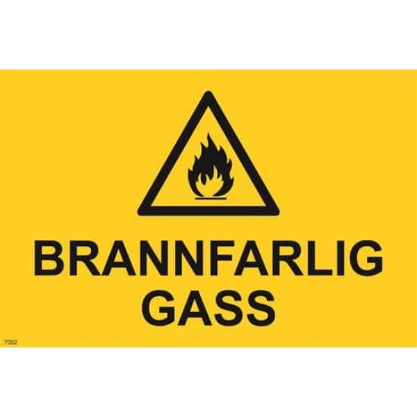 ADVARSEL BRANNFARLIG GASS, 20X30 1