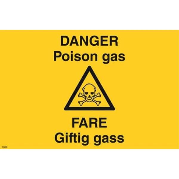 ADVARSEL FARE GIFTIG GASS, 20X30 1