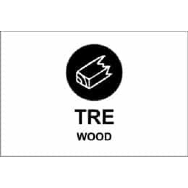 "KILDESORTERING "" TRE"" ENGELSK TEKST, 30X20, 1MM PVC 1"