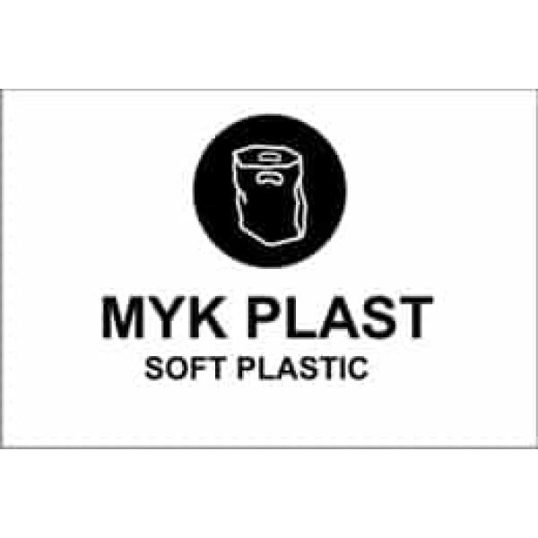 """KILDESORTERING """" MYK PLAST"""" ENGELSK TEKST, 30X20, 1MM PVC 1"""