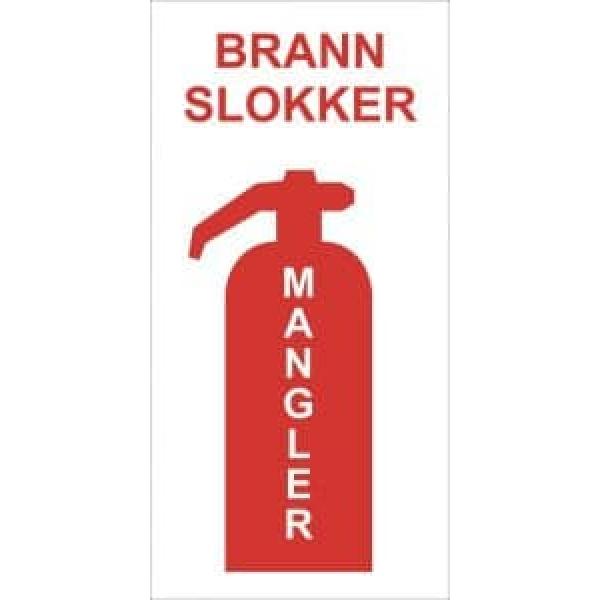 BRANNSKILT BAKPLATE FOR BRANNSLUKKER 1