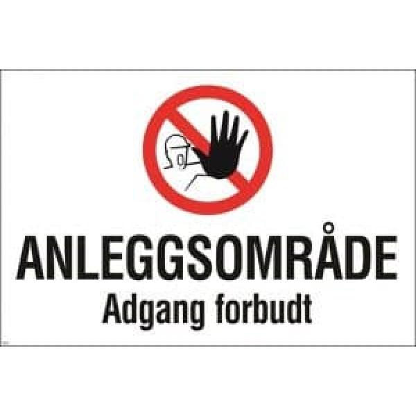 BYGGEPLASSKILT ANLEGGSOMRÅDE 1