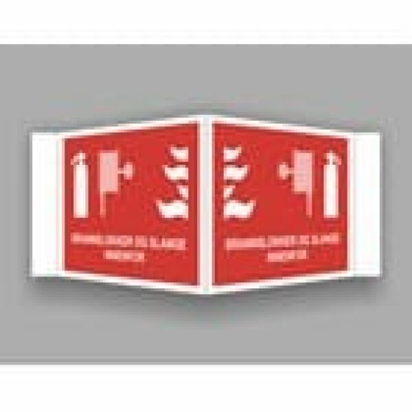 BRANNSKILT BRANNSLUKKER/BRANNSLANGE INNENFOR, 21X14CM PLOG 1