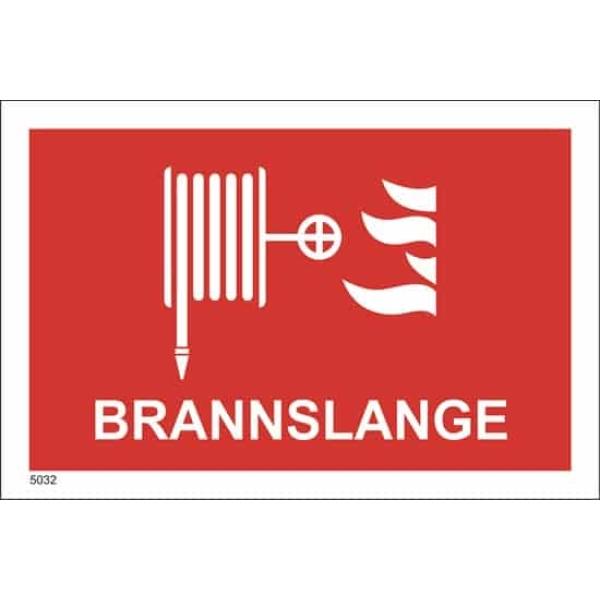 BRANNSKILT BRANNSLANGE, 21X14CM 1