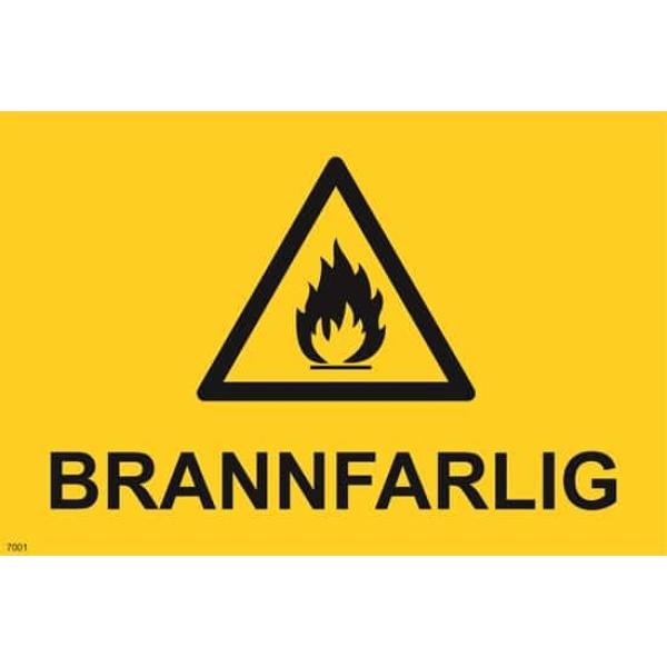 ADVARSEL BRANNFARLIG, 20X30 1