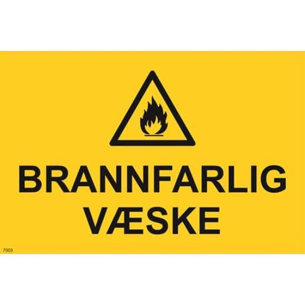 ADVARSEL BRANNFARLIG VÆSKE, 20X30 1