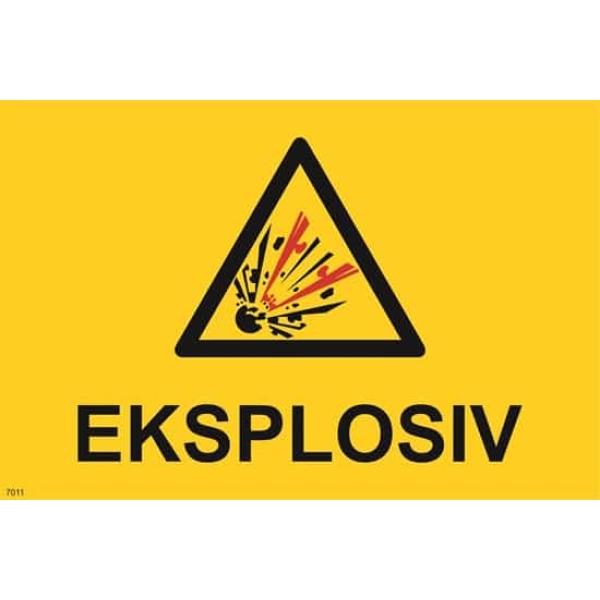 ADVARSEL EKSPLOSIV, 20X30 1