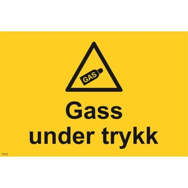 GASS UNDER TRYKK SKILT 1