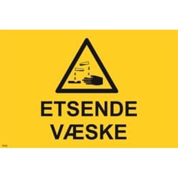 ADVARSEL ETSENDE VÆSKE, 20X30 1
