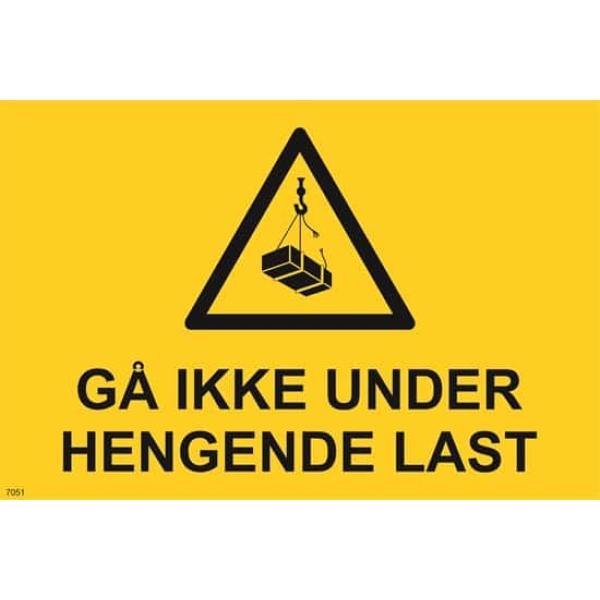 ADVARSEL HENGENDE LAST, 20X30 1