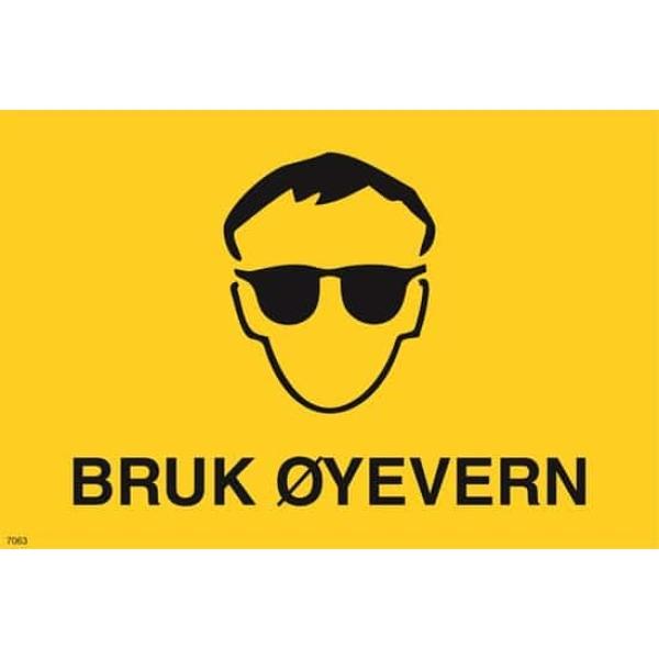 ADVARSEL BRUK ØYEVERN, 20X30 1