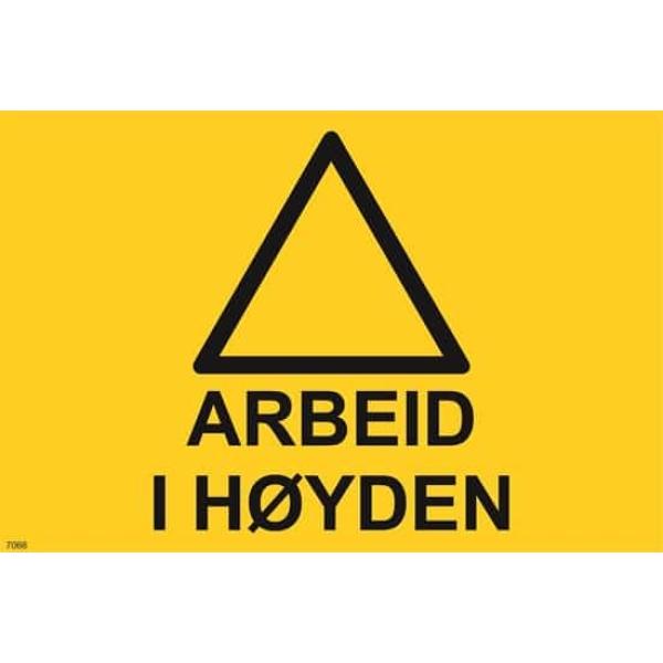 ADVARSEL ARBEID I HØYDEN, 20X30 1