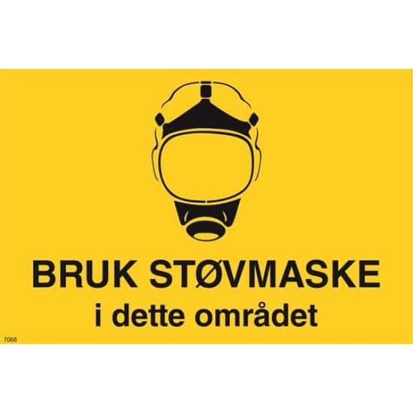 ADVARSEL BRUK STØVMASKE, 20X30 1