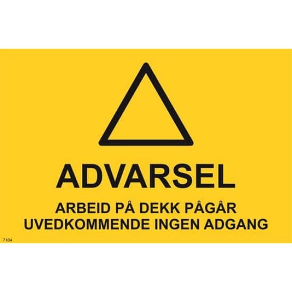 ARBEID PÅ DEKK 30X20 1