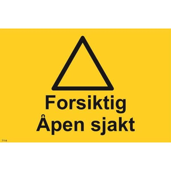 FORSIKTIG ÅPEN SJAKT, 20X30 1
