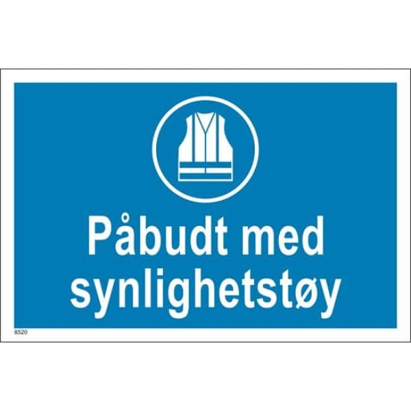 PÅBUDT MED SYNLIGHETSTØY, 20X30 1