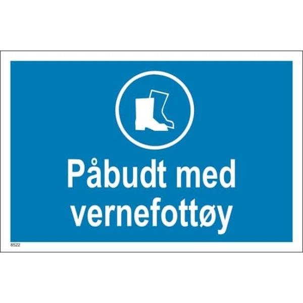 PÅBUDT MED VERNEFOTTØY, 20X30CM 1