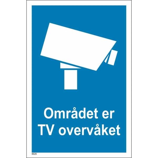 Området er TV overvåket skilt