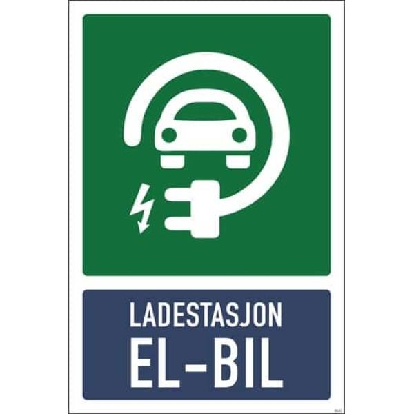 ELBIL SKILT LADESTASJON 20X30CM 1