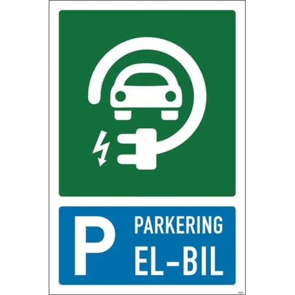 PARKERING ELBIL SKILT 1