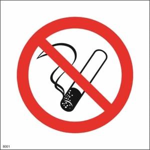 Røyking forbudt skilt 20x20 cm
