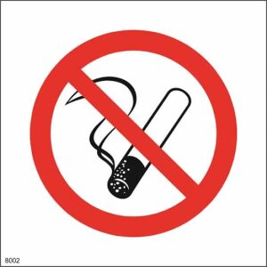 Røyking forbudt skilt