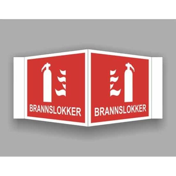 BRANNSKILT BRANNSLUKKER, 21X14CM PLOG 1