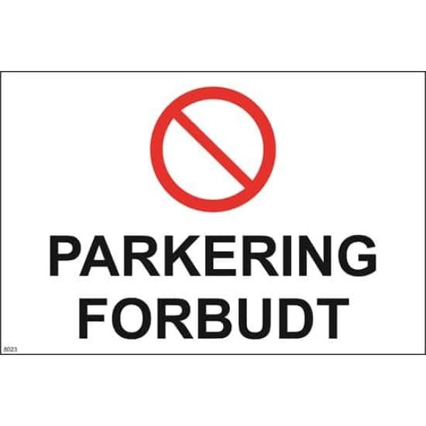 PARKERING FORBUDT, 30X20 1