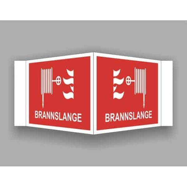 BRANNSKILT BRANNSLANGE, 21X14CM PLOG 1