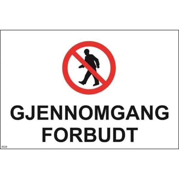 GJENNOMGANG FORBUDT 30X20 1