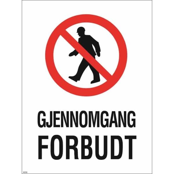 GJENNOMGANG FORBUDT 30X40 1