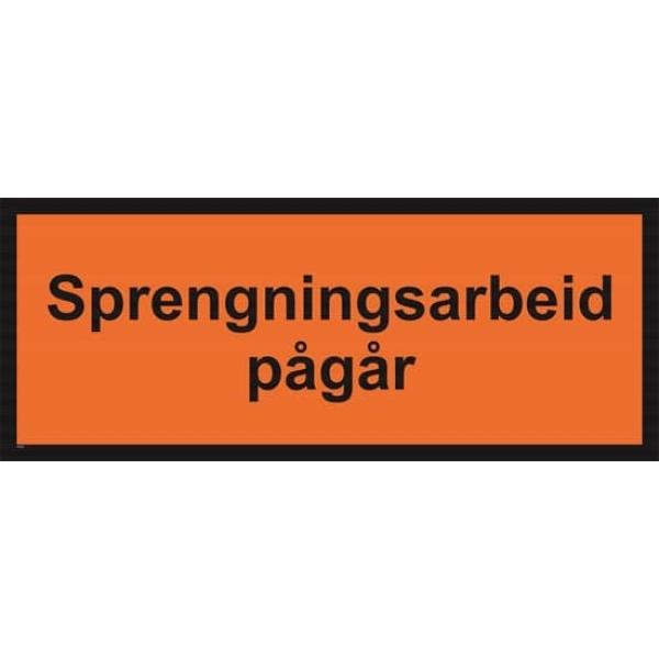 SPRENGNINGSARBEID PÅGÅR 100X40 1