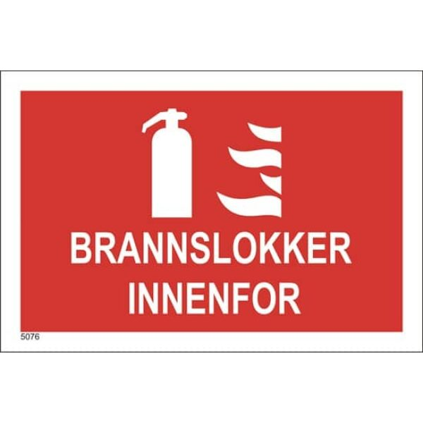 BRANNSKILT BRANNSLUKKER INNENFOR, 21X14CM 1