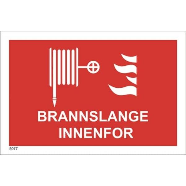 BRANNSKILT BRANNSLANGE INNENFOR 21X14CM 1