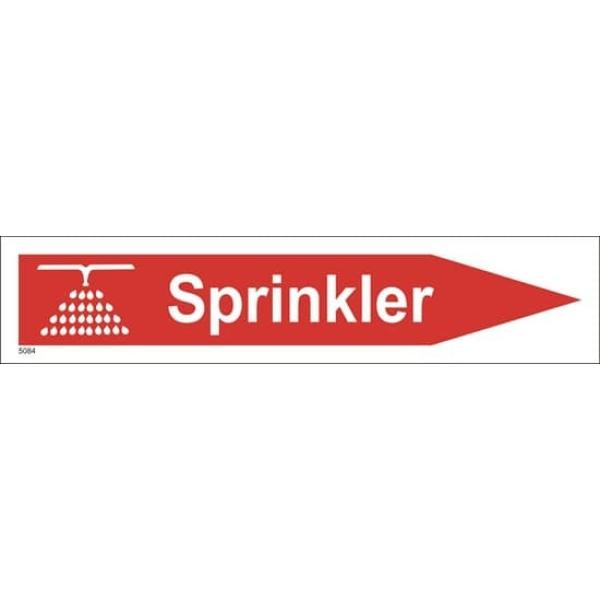 BRANNSKILT SPRINKLER M/ PIL HØYRE 33X7CM 1