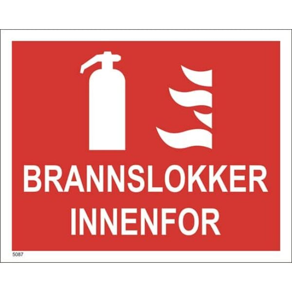 BRANNSKILT BRANNSLUKKER INNENFOR 25X20CM 1