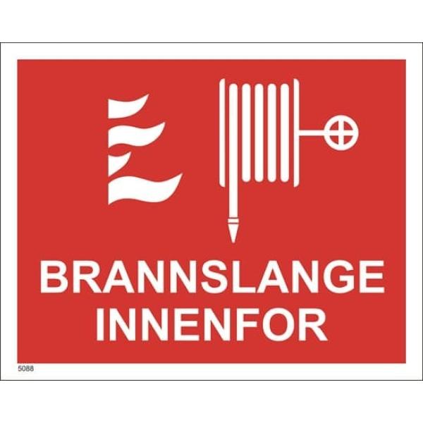 BRANNSKILT BRANNSLANGE INNENFOR, 25X20 CM 1