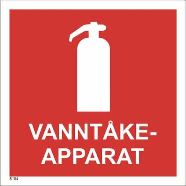 BRANNSKILT VANNTÅKE-APPARAT 20X20CM 1