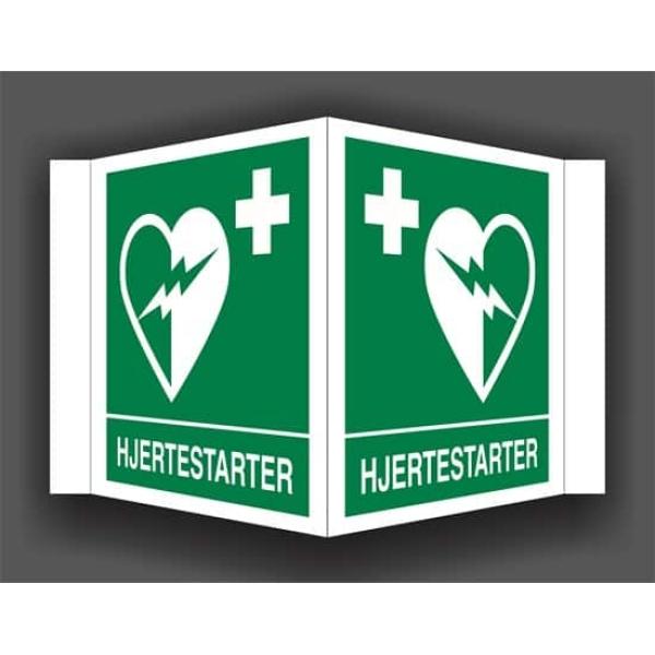 HJERTESTARTER, PLOGSKILT 20X20 cm 1