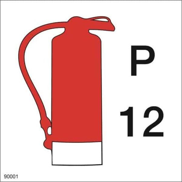 FIRE EXTINGUISHER POWDER, 15X15 1