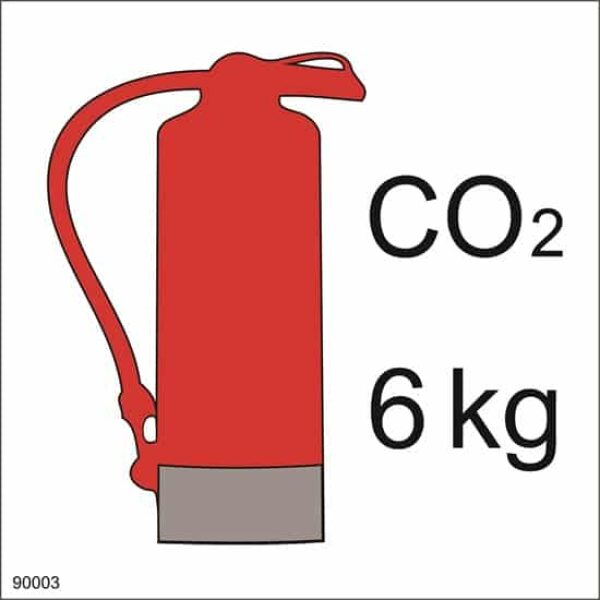 FIRE EXTINGUISHER CO2, 15X15 1