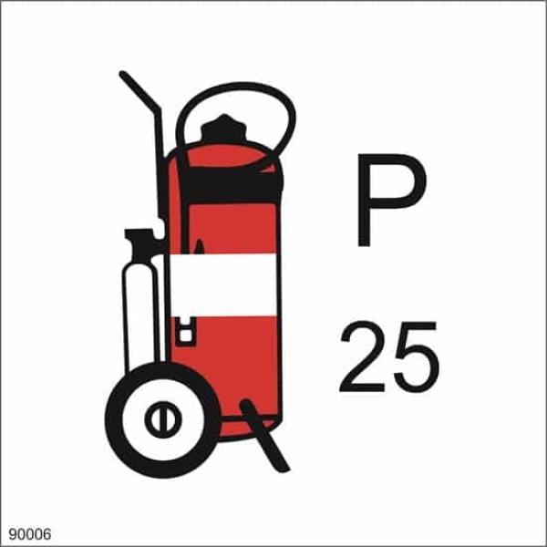 WHEELED FIRE EXTINGUISHER POWDER, 15X15 1