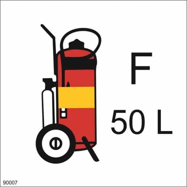 WHEELED FIRE EXTINGUISHER FOAM, 15X15 1