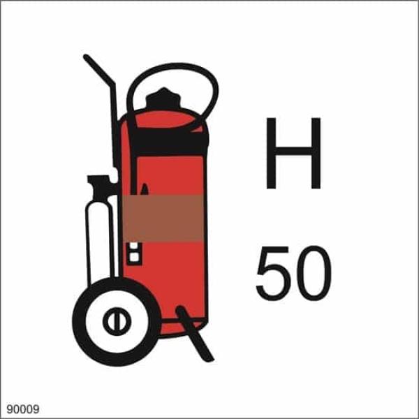 WHEELED FIRE EXTINGUISHER HALON, 15X15 1