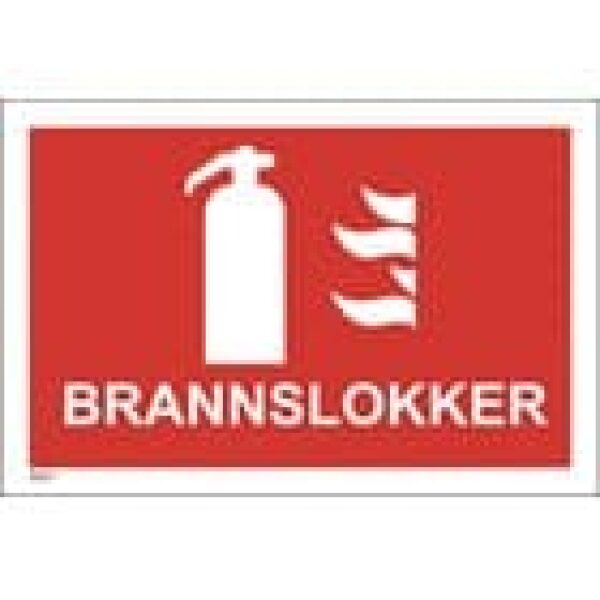 BRANNSKILT BRANNSLUKKER, 21X14CM 1