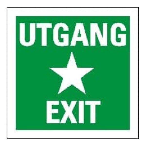 EXIT/UTGANG, IMO 15X15, ETTERLYSENDE 1