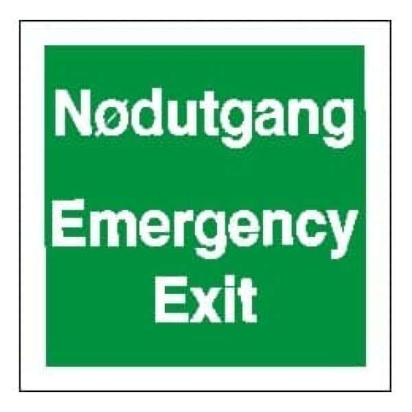 EMERGENCY E./NØDUT.,IMO, 15X15 1