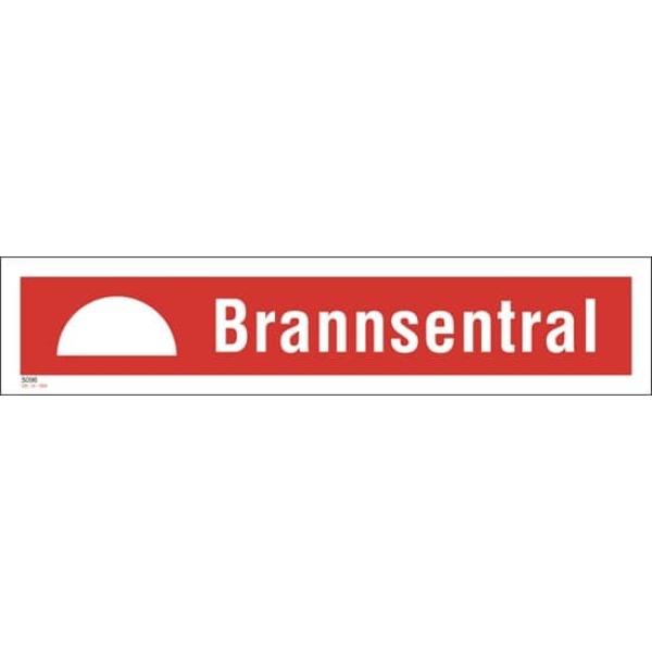 BRANNSKILT BRANNSENTRAL 33X7CM 1